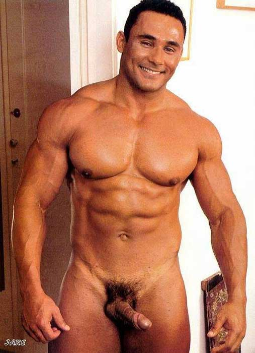 Swallow sparkling muscular men naked